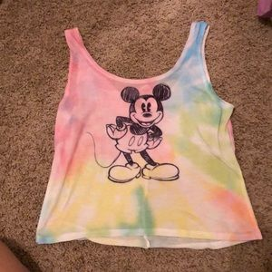 Rainbow Mickey Mouse Crop Top